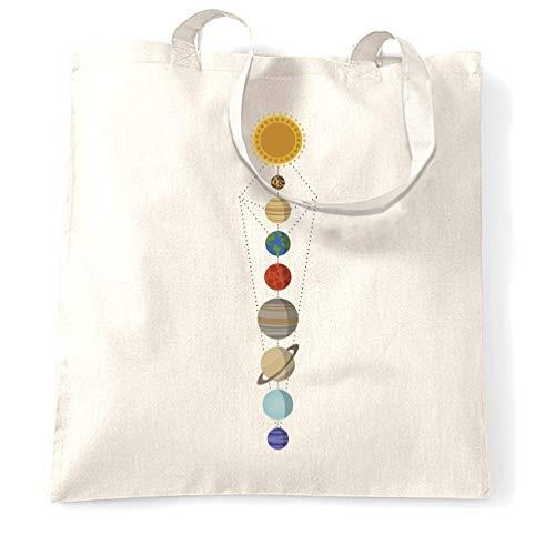 Tim And Ted kühle Nerdy Tragetasche Geometrische Sonnensystem-Raum-Kunst White One Size -