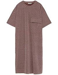 Zara kleid mit gummiertem print