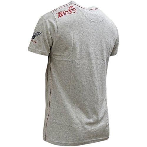 Brave Soul Herren T-Shirt grau grau Grau