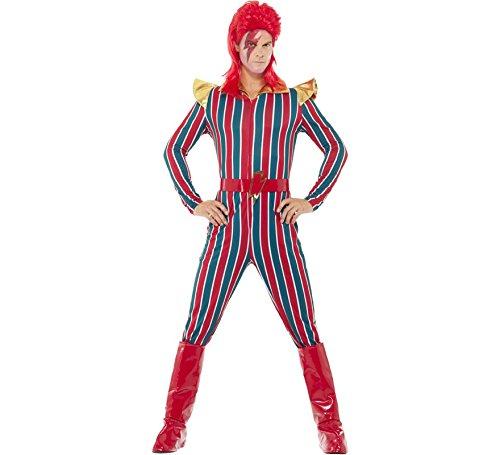 Einfache Weltraum Kostüm - Smiffys Herren Weltraum Superstar Kostüm, Jumpsuit,