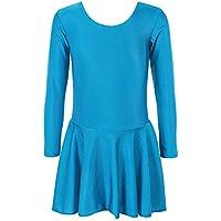 ZNYUNE Fille Ballet Robe Justaucorps de Danse Patinage Artistique Classique  Manches Longues 3-14 Ans de010245d51