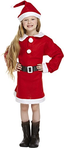 Children's Christmas Girl Santa Mrs Claus Nativity Fancy Dress Costume-4-6 (Mrs Santa Kostüm)