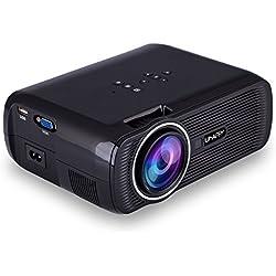 Uhappy U80 3000 Lumens LED Mini Proyector, Full HD 1080P