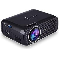 Uhappy U80 3000 Lumens LED Mini Proyector, Full HD 1080P Video Portátil Projector LED Home Cinema Apoyo HDMI VGA USB SD para PC TV Laptop Game Smartphone TV Box