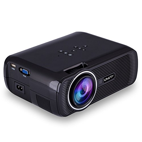 Uhappy U80 3000 Lumens LED Mini Proyector, Full HD 1080P