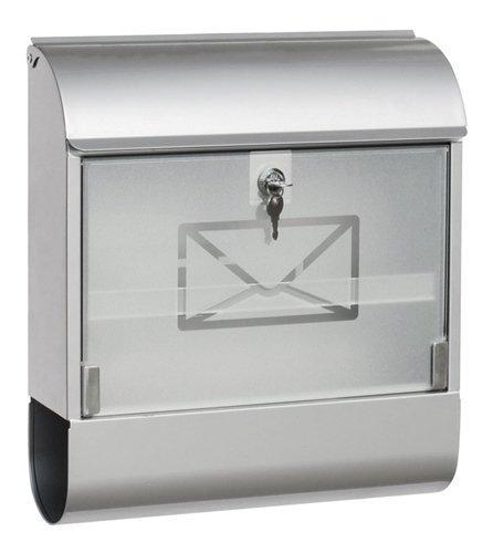 Briefkasten Postkasten Zeitungsfach Zeitungsrolle - verzinktes Stahlblech mit Glasfront - div. Größen (46.7 cm)