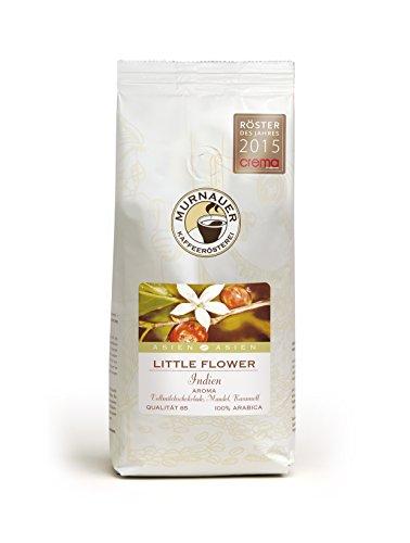 Murnauer Kaffeerösterei LITTLE FLOWER - Espressobohnen aus Indien - Premium Kaffee - von Hand frisch & schonend geröstet - Espresso und Filterkaffee - 250g gemahlen