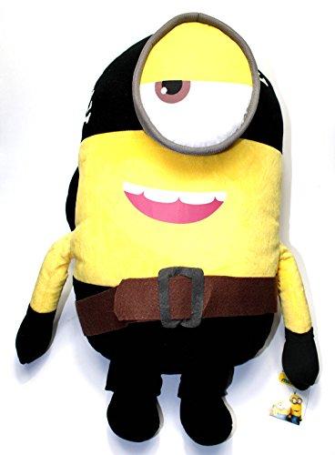 Kostüm 3d Minion (Minions Plüschtier Plüsch Figur Kuscheltier Stofftier XXL Stuart im Pirat Kostüm 62cm [Versand durch)