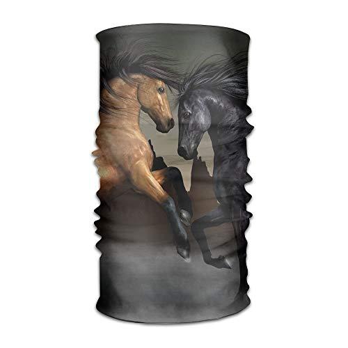 Jieaiuoo Headwear Headband Horse Patterns Head Scarf Wrap Sweatband Sport Headscarves For Men Women - Flower Girl Satin Schuhe