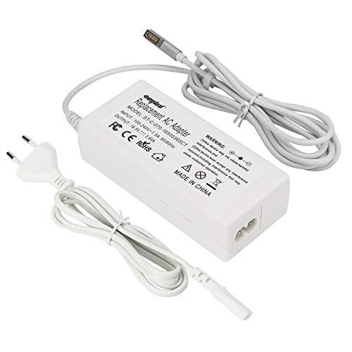 Sunydeal Cargador Adaptador 16.5V 3.65A 60W para Macbook y Macbook pro de 13 pulgadas(Antes de Octubre de 2012), A1181 A1278 A1184 A1330 A1342 A1344 MD101xx/A MD102xx/A MD313CH/A MD314CH/A MC700CH/A MC724CH/A MC374CH/A MC375CH/A MC516xx/A MB881xx/A, Conector tipo L