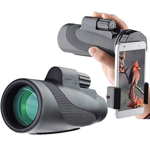 MMPY Monokulares 12X50 High-Definition-Mikroskopisches Nachtsichtgerät und schneller Smartphone-Adapter Wasserdicht, beschlagfrei, stoßfest