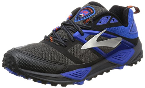 Brooks Cascadia 12 Scarpe da Corsa Uomo, Grigio (Anthracite/Electric Blue/Black) 42.5 EU