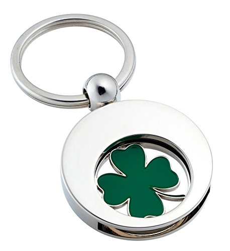 key-fob-with-shopping-trolley-token-four-leaf-clover
