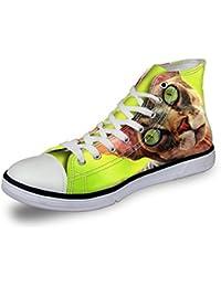 Damen Herren High Top Canvas Schuhe Sneaker Cool Elefant