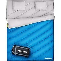 Fundango Saco de Dormir Ligero XL para Camping, Mochilero, Viaje con Saco de Compresión Cálido Saco
