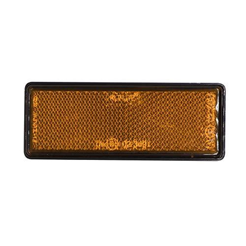 Vosarea 10 stücke LKW Reflektor rechteck Auto reflektierende Schild Sicherheit warnung Reflektor (orange) - Reflektor-schild