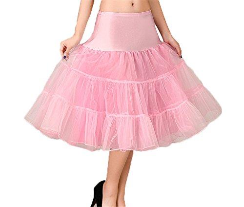 CoutureBridal® 50er Jahre Organza Vintage Rockabilly Petticoat Unterrock  Underskirt Pink