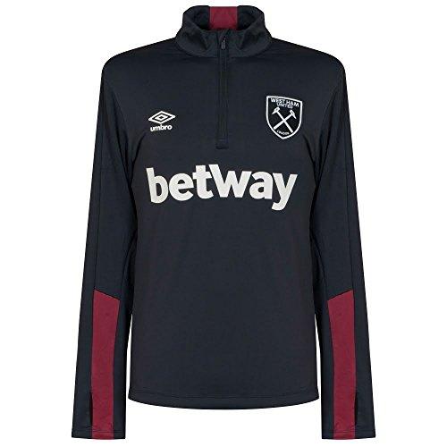 Umbro-Camiseta West Ham Half Cremallera SPN-Galaxy/-Burdeos