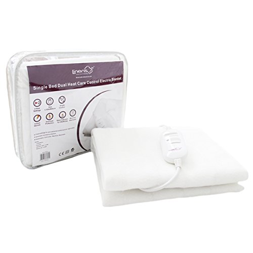 Linens Limited Single Dual Heat Care Control Washable Electric Blanket