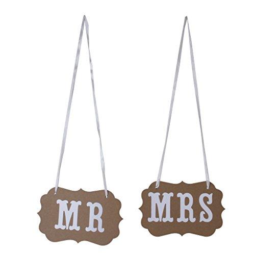 Preisvergleich Produktbild MR MRS Hochzeit Braut West Verzierung Bunting Garland Banner Beige
