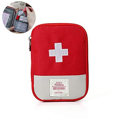 Ouken Notfalltasche für Zuhause, Reisen, Notfalltasche, Erste-Hilfe-Überlebensset (rot) - Rote Medizin