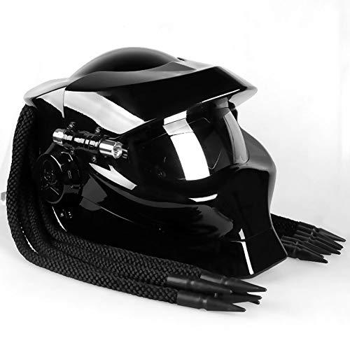 Wwtoukui Casco de Moto Cool Predator