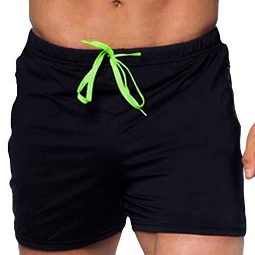 c09ace73fd LuckyGirls Hombres Pantalones de Natación Deporte Pantalones de Playa  Secado Rápido Color Sólido Respirable Entrenamiento Pantalón