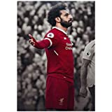MOTIVATE BOX Posters, Mohamed Salah Portrait Design Posters For Offices, Homes, And Cafes. | 12 Inches*18 Inches Rolled Posters| Frames Are Not Included.Design-PS7323