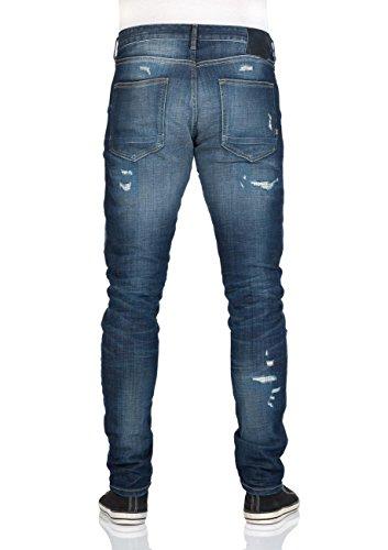 Scotch & Soda Herren Skim Schmal geschnittene Zerrissene Jeans, Blau Royal Bliss (5Z)