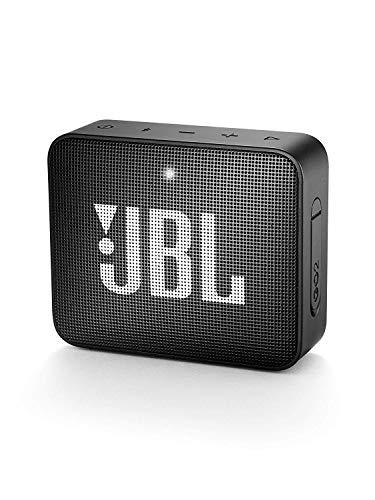 JBL GO 2 kleine Musikbox in Schwarz – Wasserfester, portabler Bluetooth-Lautsprecher mit Freisprec...