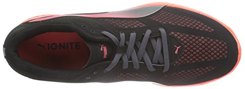 Puma IGNITE Mesh Wn's, Chaussures de course femme Noir - Schwarz (black-cayenne 01)