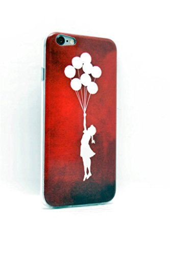iPhone 15,2 cm 11,9 cm Bild Slim Fit Case Cover Protector Red Banksy
