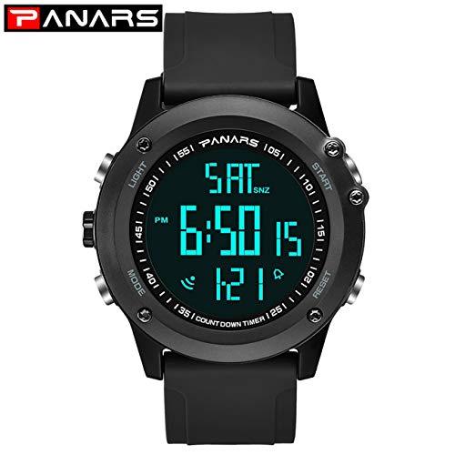 Herrenuhr Wasserdichte Sport-Digitaluhr Herrenuhr Elektronik Armbanduhr (Farbe: schwarz)