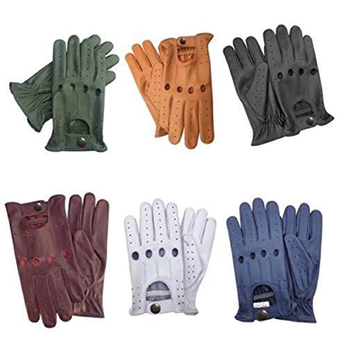 Herren Leder Driving Handschuhe Weiche Hohe Qualität Echtes Leder Kuh Klassische Handschuhe Retro Style Hohe Qualität (S, Weib) Echt-leder-handschuh, Handschuhe