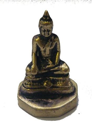 Fair Trade Cast Brass Buddha Statue / Stamp / Chop