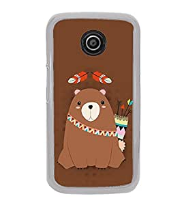 Warrior Bear 2D Hard Polycarbonate Designer Back Case Cover for Motorola Moto E (1st Gen) :: Motorola Moto E XT1021 :: Motorola Moto E Dual SIM :: Motorola Moto E Dual SIM XT1022 :: Motorola Moto E Dual TV XT1025