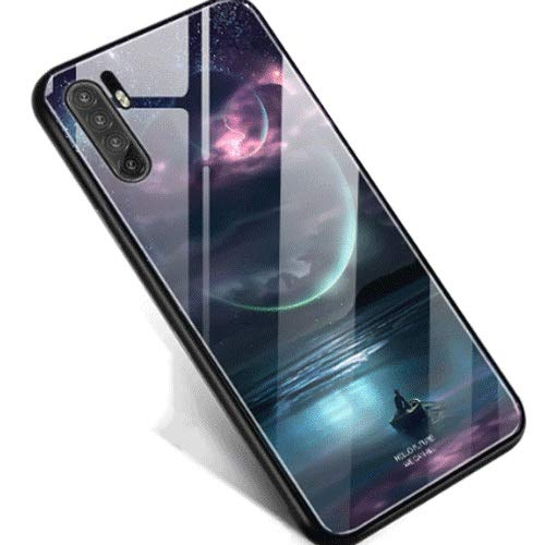 FWSJK Moonlight-Muster Huawei-Handy-Shell-Lichtglas P30pro Flüssigsilikon All-Inklusive bruchsicherer hochwertiger Schutzüberzug Ultradünner Spiegel New Limited Edition
