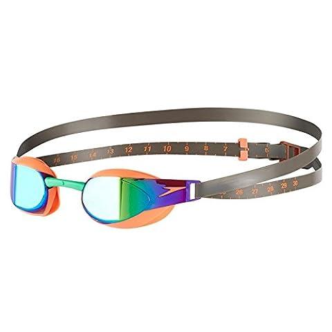 Speedo Fastskin Elite Gespiegelte Schwimmbrillen - Fluo Orange / Grün