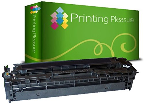 Printing Pleasure Kompatible Tonerkartusche für HP Laserjet Pro 200 Color M251n M251nw MFP M276n M276nw CM1312 CM1312nfi CP1215 CP1515 CP1515n CM1415fn CM1415fnw CP1525n CP1525nw, Schwarz (Hp Tonerkassette 131)