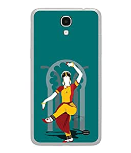 PrintVisa Designer Back Case Cover for Samsung Galaxy Mega 2 SM-G750H (Special dancer yellow red green blue)
