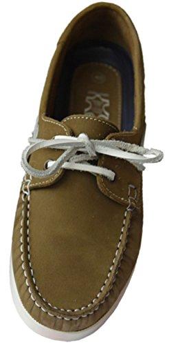 Beverley Originals Herren Leder Bootsschuh Men's Casual Skipper, Farbe:grün, Größe:45 EU