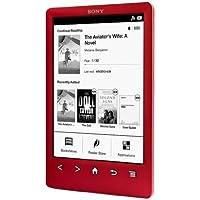 """Sony PRS-T3S - Lector de eBooks (6"""", 758x1024, ePub, FB2, PDF, 2 GB), rojo"""