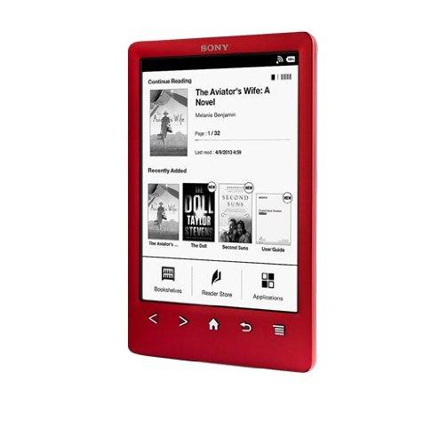 Sony Reader (PRS-T3S/RC). Rot: Kompakter und sehr Leichter E-Book Reader mit hochauflösendem Touchdisplay und W-LAN