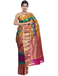 CLASSICATE From the house of The Chennai Silks Women's Elampillai Silk Saree with Blouse Piece (CCMYSS6095, Multicolour, Free Size)