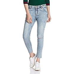 Sugr Women's Slim Jeans (270020159 LT-BLUE 32 IN-28)