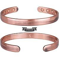 (Paquet de 2) Smarter LifeStyle Bracelet Magnétique Élégant En Cuivre Pur - Bracelet Rigide