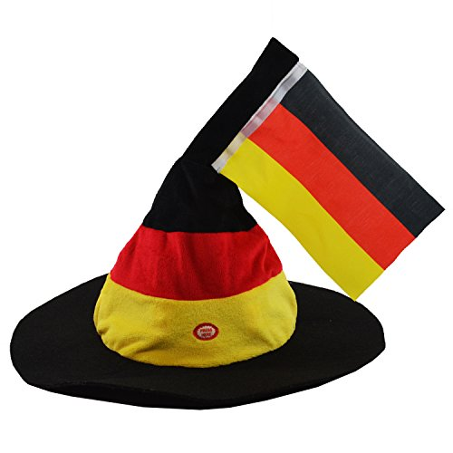 Deutschland mit Fahne'' Bewegung und Sound | Fanartikel | Geschenk für Männer | Fahnen und Flaggen | Kopfbedeckung | Fasching | Damen | WM | EM | Fussball | Fussballartikel | Fans | Fanaccessoire | Deutschland | Preis am Stiel® (Kostüm Luftballon Lieferung)