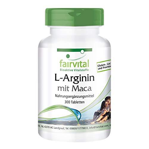L-Arginin Tabletten mit Maca - HOCHDOSIERT - 300 Tabletten - mit Beta-Glucan, OPC und Zink