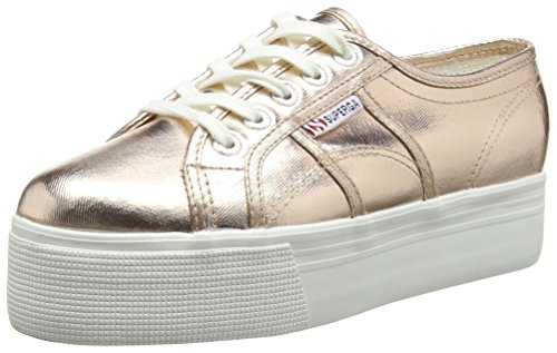 Superga 2790 COTMETW - Zapatillas Mujer, color Dorado - Gold (Rose Gold), talla 39 EU (5.5 UK)