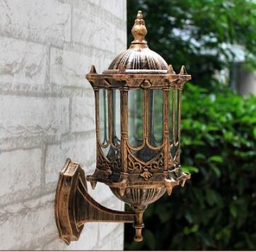 5151BuyWorld Bronze Antique Brass Ip65 Wandleuchte Luxary amerikanischen European Outdoor Sconce Jahrgang Klassische Wasserdichte Licht [warmes Licht] - Antique Bronze Outdoor-wandleuchte